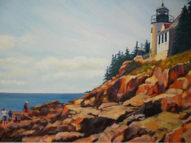Bass Harbout Head Lighthouse Maine
